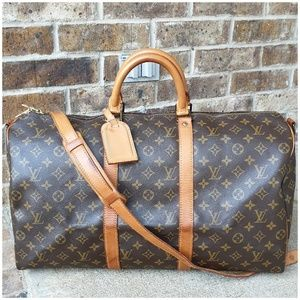 Louis Vuitton Auth Bandouliere Keepall 50